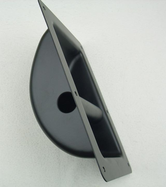 Tragegriff Boxengriff Kistengriff Griff Schalengriff 220x162 mm Stahl black