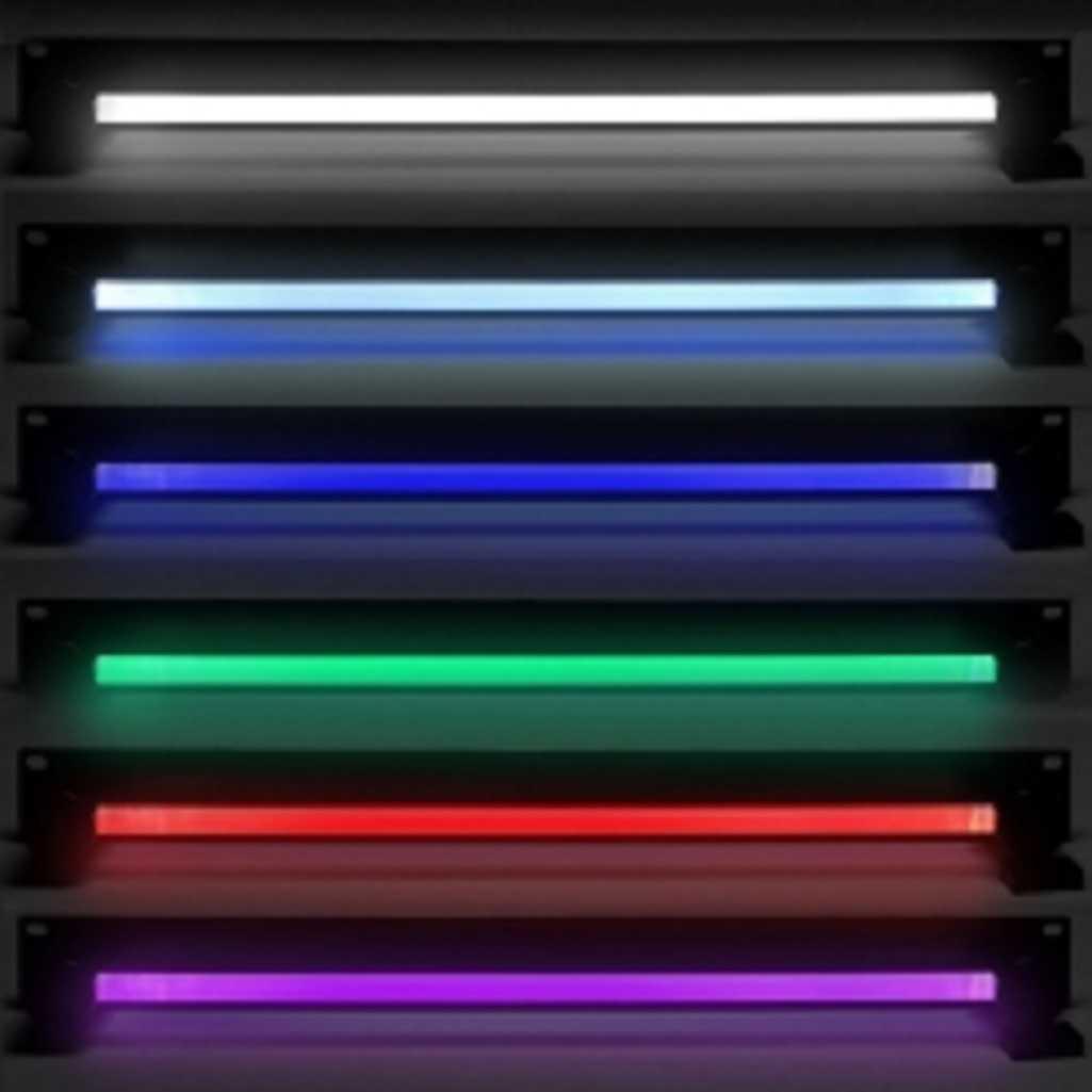 RGB Farbwechsel LED COOL LIGHT CHAMELEON Multi Colour Racklight Rack ...