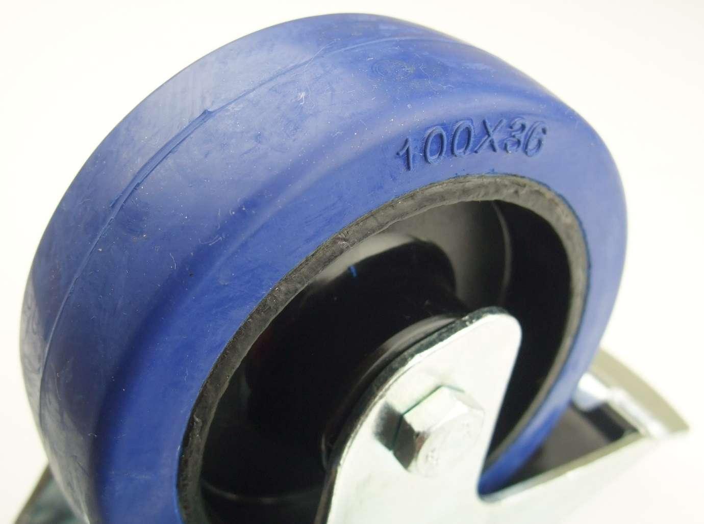 20 St 125mm SL Blue Wheels mit Feststellbremse Lenkrollen Transportrollen Bremse
