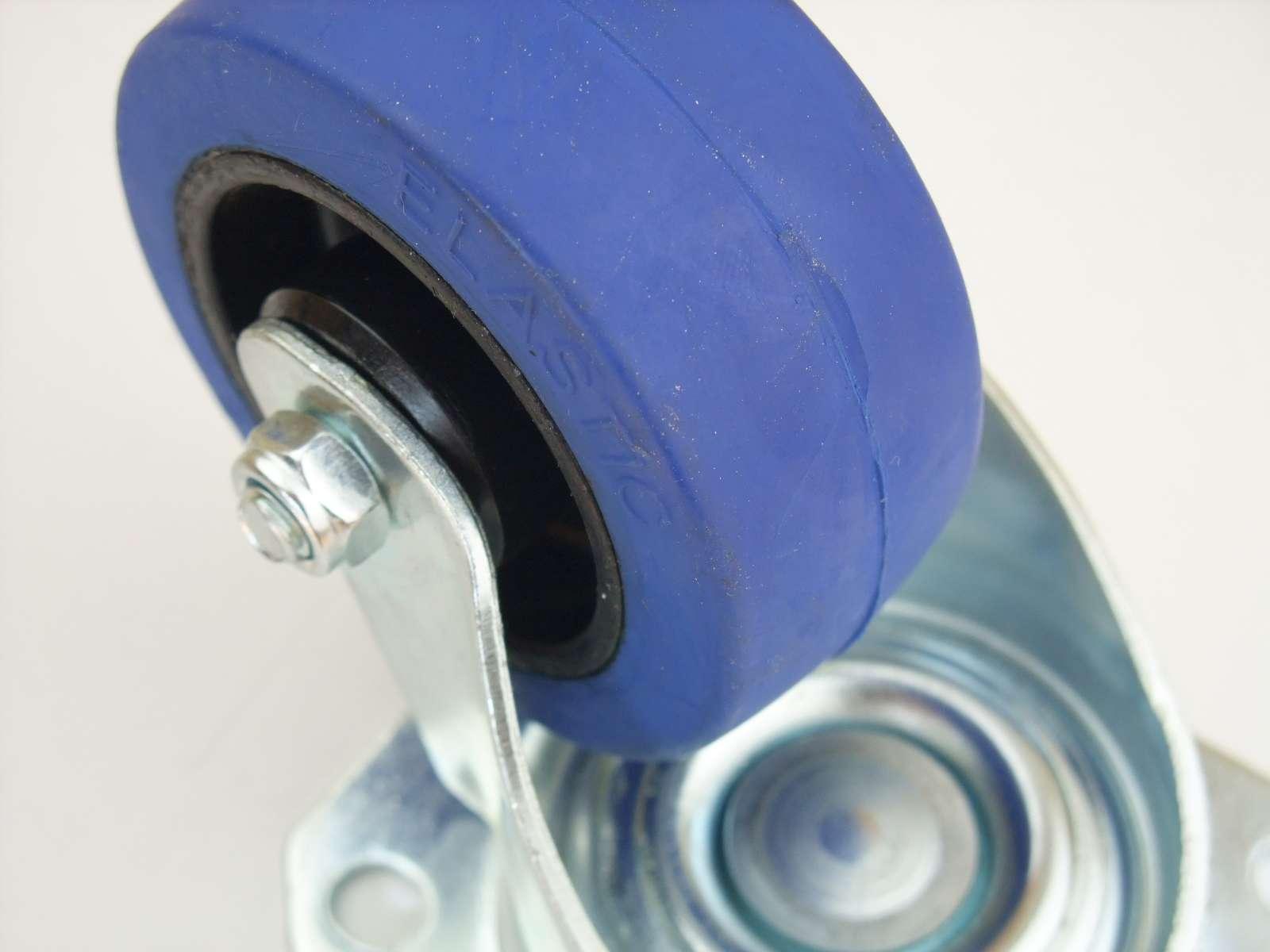 Pro-audio Equipment Rollen Mit Anschraubplatte 24 Sl 80 Mm Blue Wheel Rollen Lenkrollen Transportrollen Schwerlastrollen Wheels