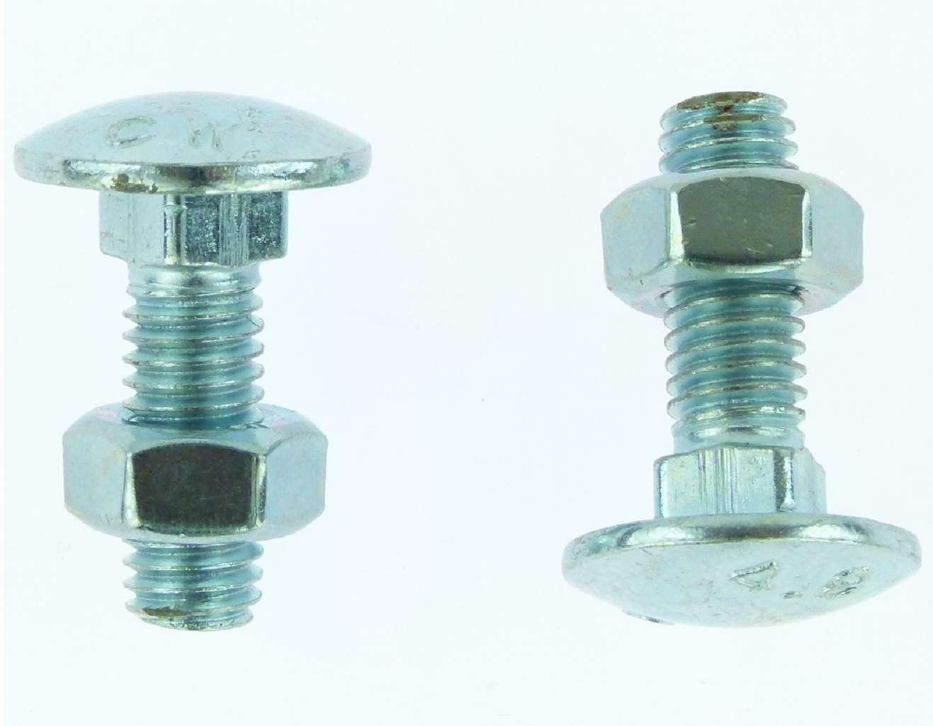 Flachrundschrauben M8 x 50 Stahl 8.8 DIN 603 200 Stk