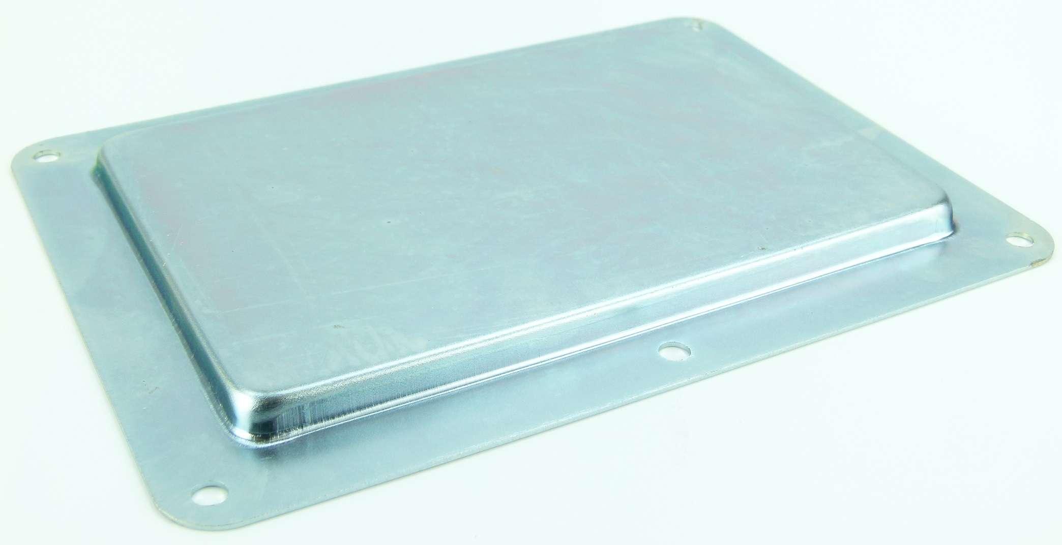 Einbauschale Metall für Tourlabel Beschriftungsschild Produktionsschild 260x190